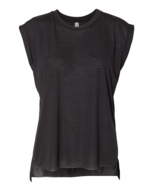 Bella Canvas Women's Flowy Muscle T-Shirt With Rolled Cuffs