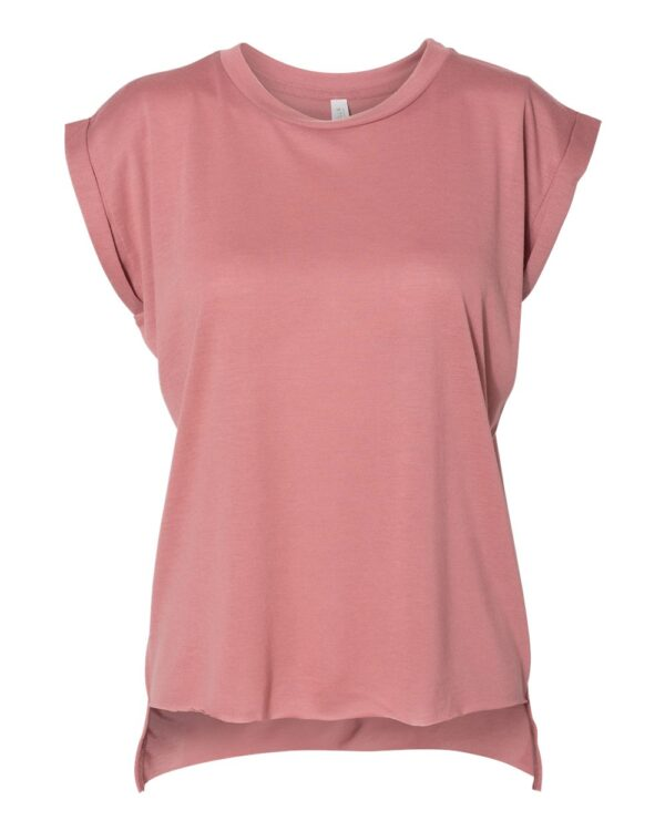 BELLA + CANVAS Women's Flowy Muscle T-Shirt With Rolled Cuffs
