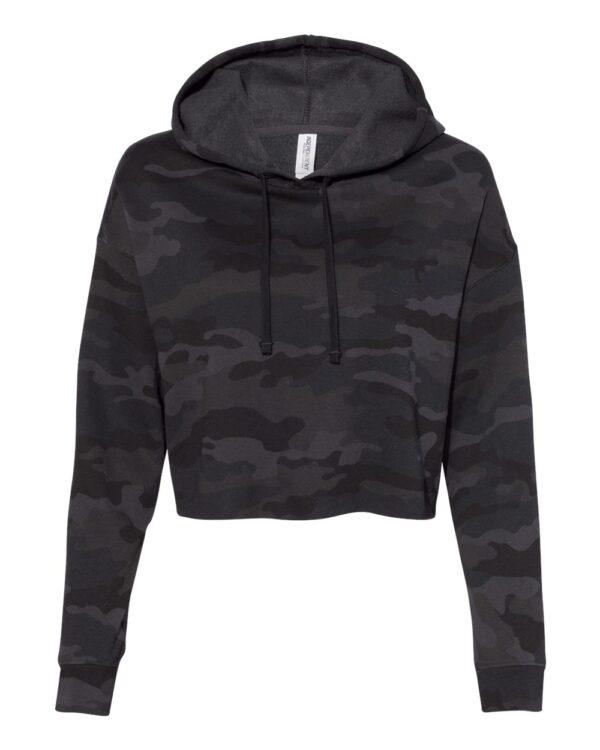 Independent Women's Lightweight Cropped Hooded Sweatshirt