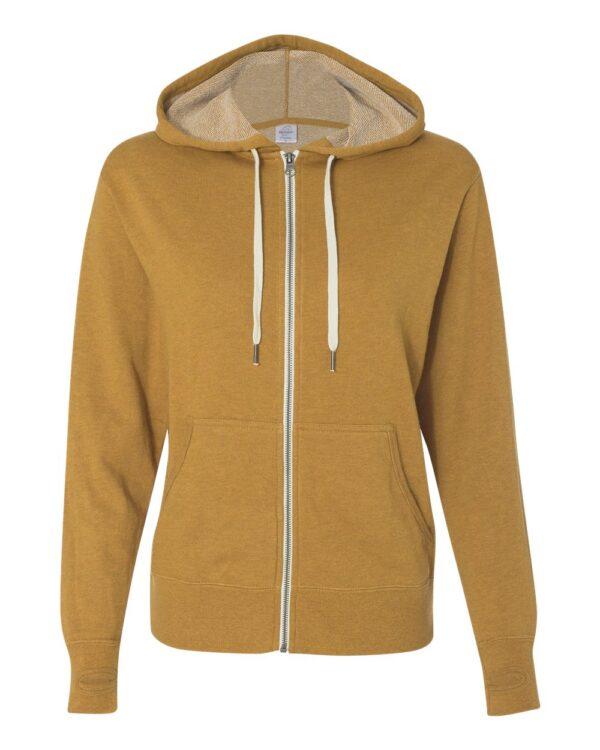 Independent Unisex Heather French Terry Zip-Up Hooded Sweatshirt
