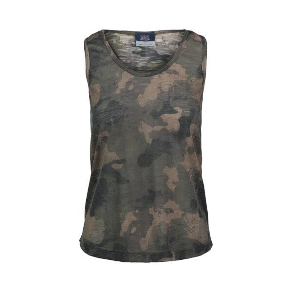 MV Sports Women's Slub Jersey Printed Tank Top