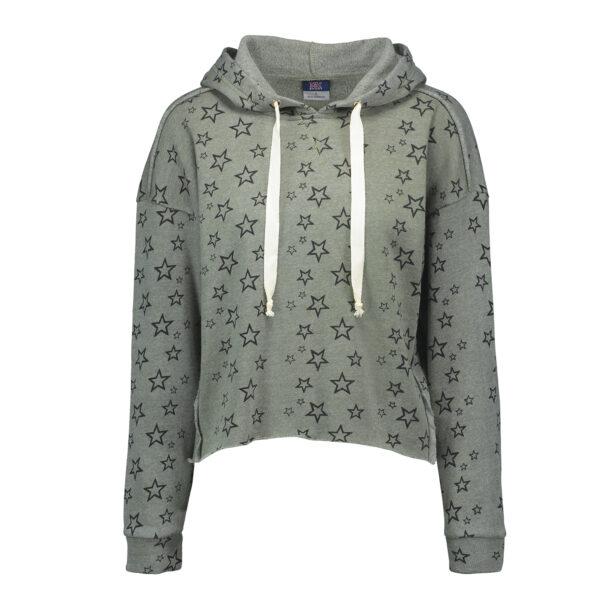 MV Sports Starry Cropped Hooded Sweatshirt