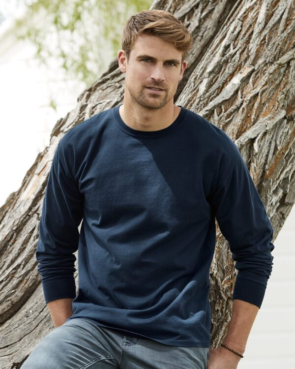 Garment-Dyed Long Sleeve T-Shirt