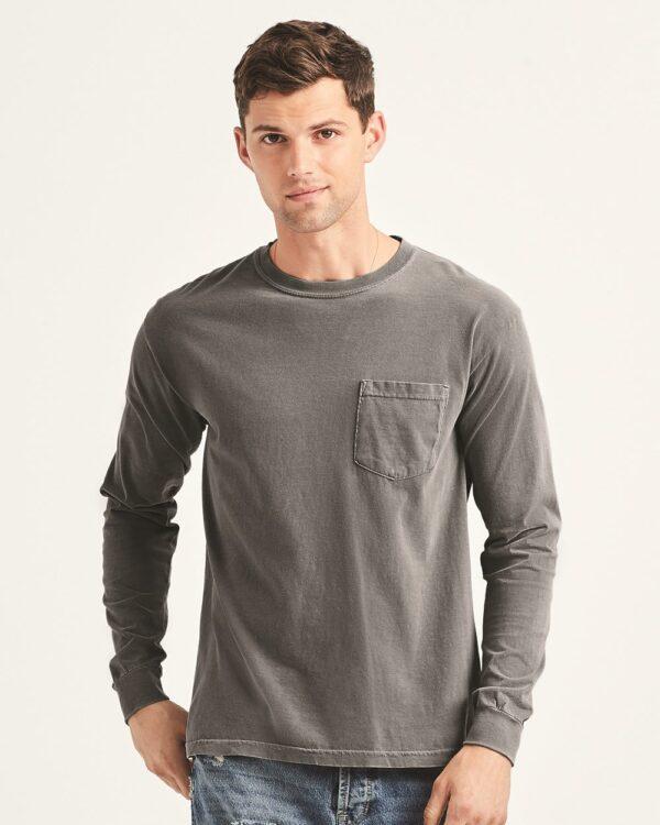 Garment-Dyed Heavyweight Long Sleeve Pocket T-Shirt