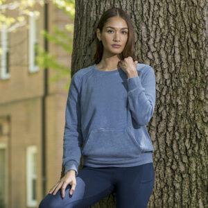 Michaela Angel Fleece Crew-Neck Sweatshirt