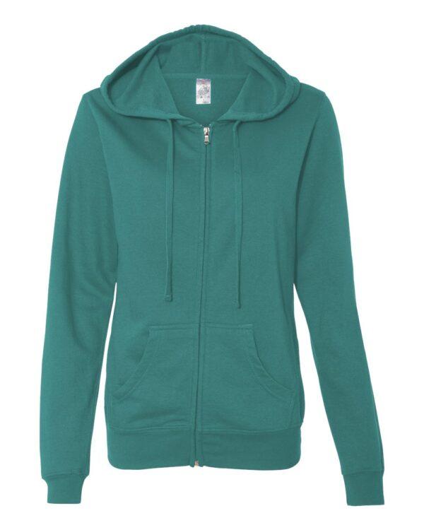 Independent Lightweight Zip Hooded Sweatshirt