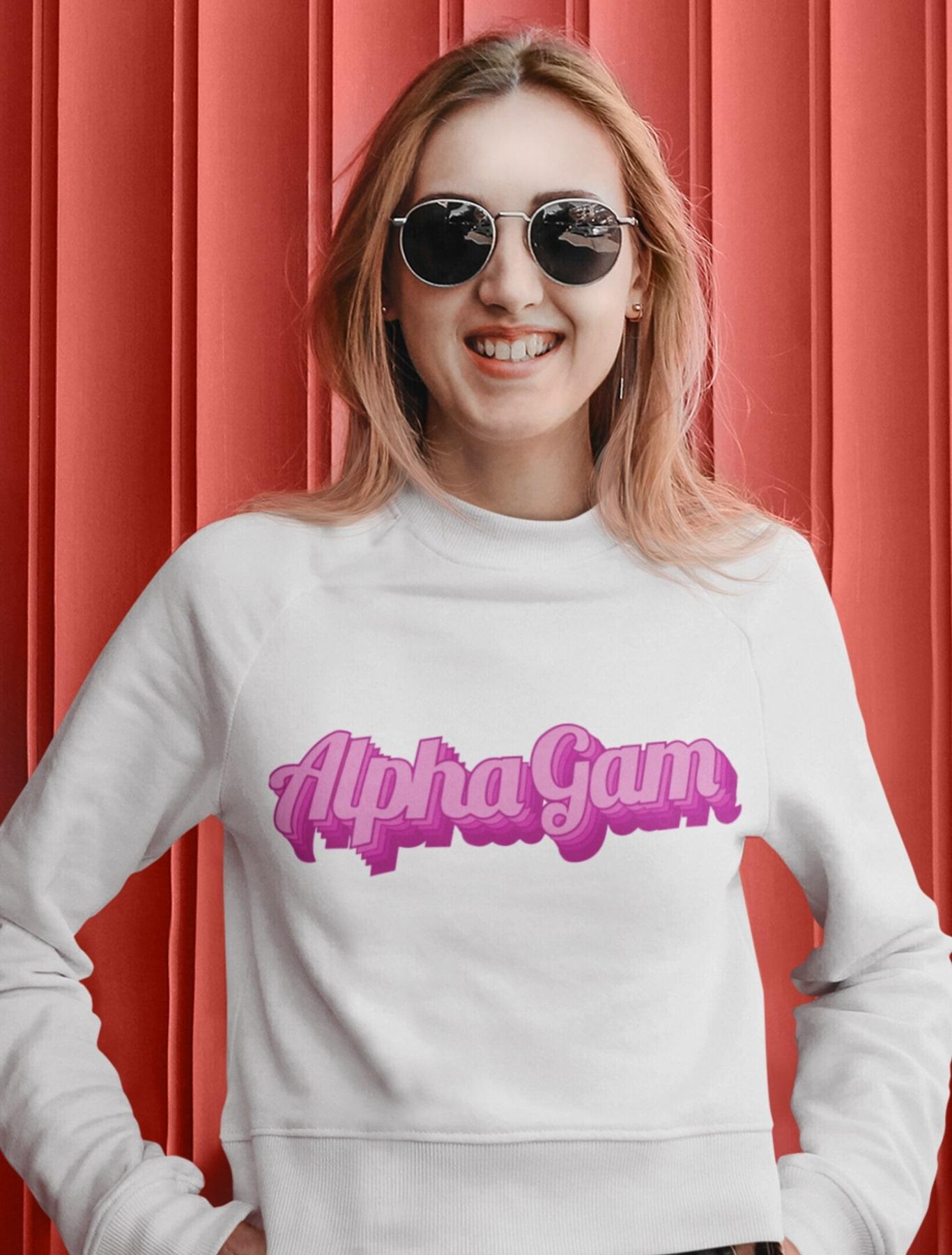Alpha Gamma Delta 3d Pink