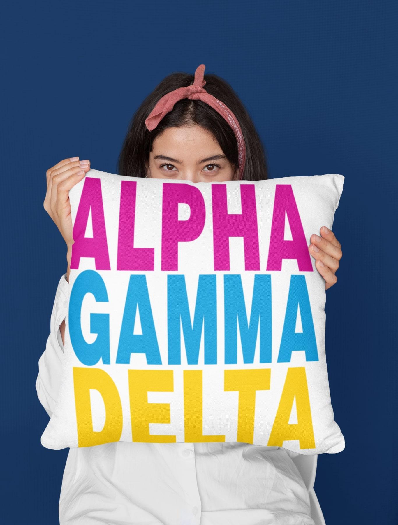 Alpha Gamma Delta Pillow