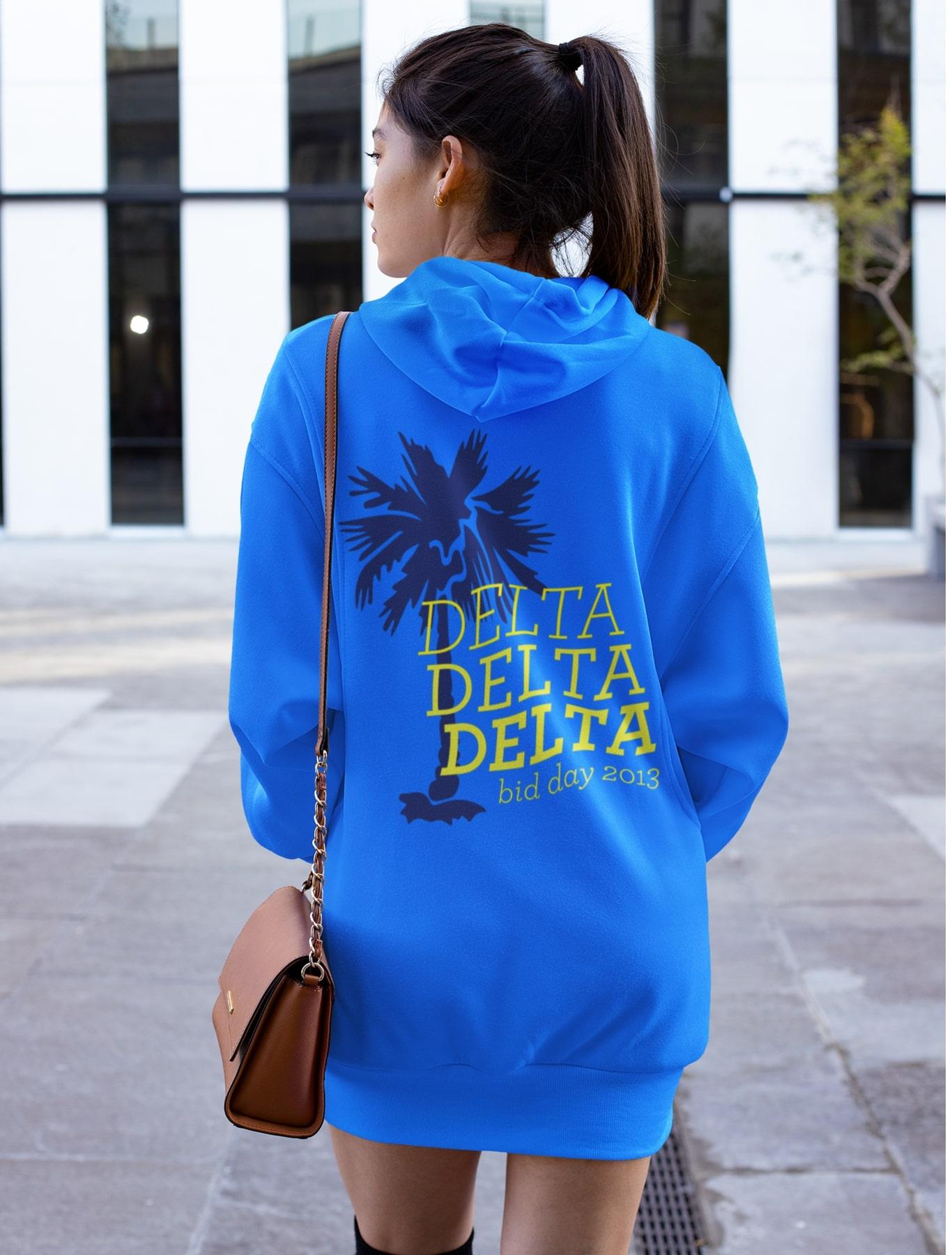 Delta Delta Delta Palm Dress hoodie