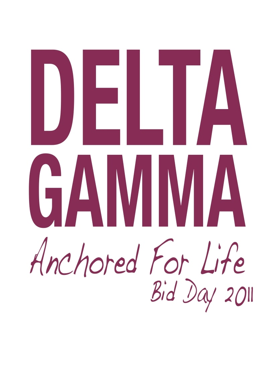 Delta Gamma Anchored for life